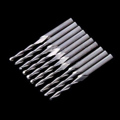 10 Pcs 18 17mm Double Flute Spiral Carbide Flat Nose End Mill Cnc Router Bits