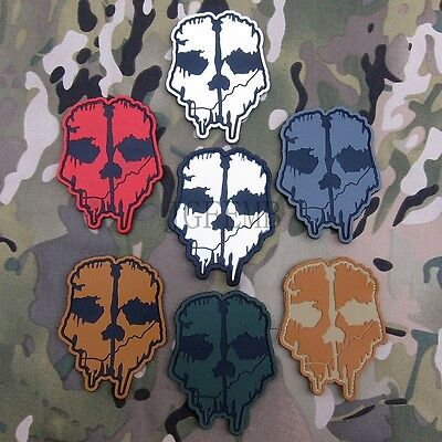 Call Of Duty 10 Ghosts COD10  Morale Military Tactical 3D PVC Patch Badge