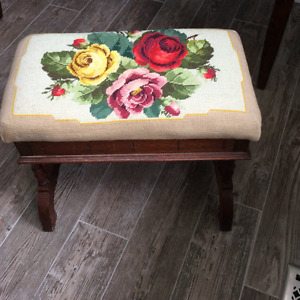 Antique sewing footstool