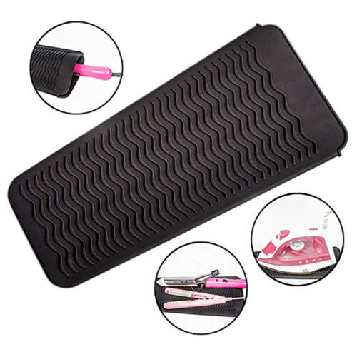 Silicone Heat Resistant Mat Storage Pouch Hair Straightener
