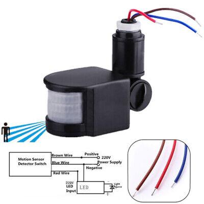 Exterior AC 110-220V Infrarrojo Movimiento Pir Sensor Detector Pared Luz 140°