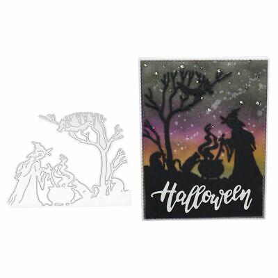 DIY Halloween Witch Cutting Dies Stencil Scrapbooking Paper Card Embossing Craft (Witch Halloween Craft)