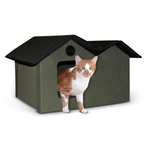K&H Manufacturing Outdoor Kitty House Extra-Wide (Unheated), 26.