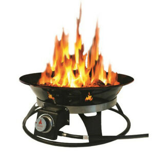 Cypress 21 in. Steel Portable Propane Fire Pit with Cover