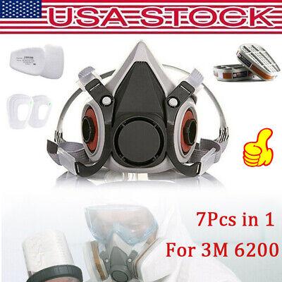 7 in 1 For 6200 Respirator Painting Spraying Gas Mask Cotton Filter/Cartridge