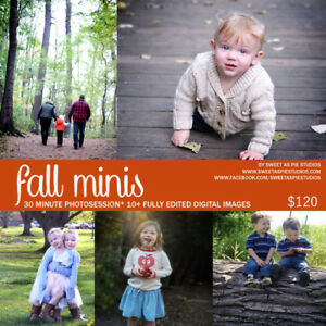 Sweet As Pie Studios Fall Sessions!