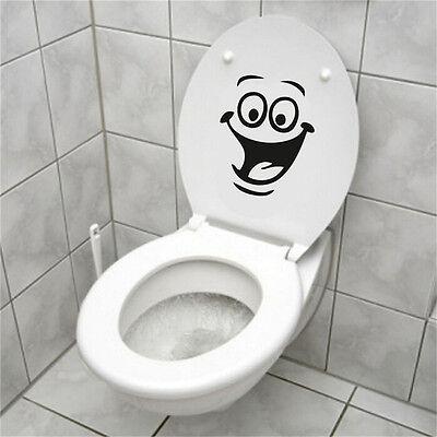 Face WC Toilet Decal Walls Mural Art Decor Funny Bathrooms Sticker Vinyl - Wc Decor