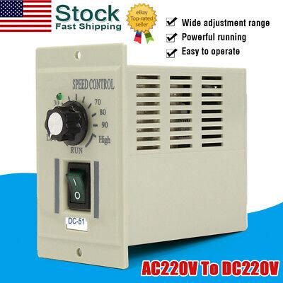 Ac 220v Speed Knob Control Voltage Controller For 400w Motor Output Dc 0-220v Us