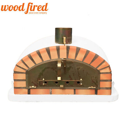 brick outdoor wood fired Pizza oven 100cm x 100cm Italian model, used for sale  Chesterfield