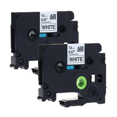 Tze-231 Tz-231 Compatible For Brother P-touch Label Tape Cartridge 12mm 8m 2pk