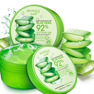 Nature Aloe Vera 92% Soothing Gel 300ml Moisturiser Body Face Skin Care 2018