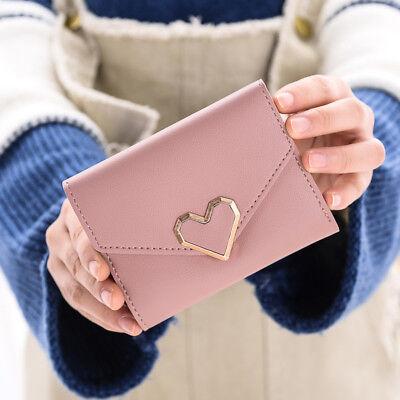 US Womens Leather Small Mini Wallet Ladies Card Holder Clutch Handbag Coin Purse