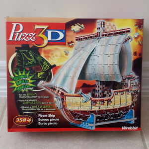 PUZZ 3D Wrebbit Puzzle Pirate Ship (358 pieces)