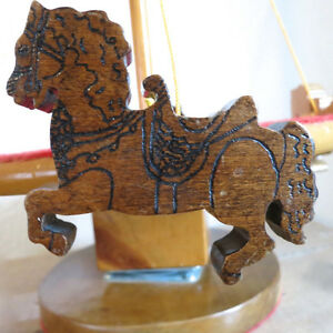 Vintage Toy Merry Go Round Hand Made Wood One of a Kind Folk Art Kitchener / Waterloo Kitchener Area image 5