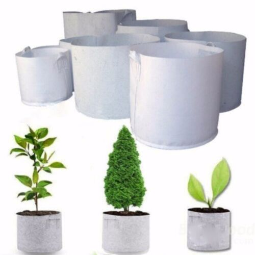 5 Size Round Fabric Pots Plant Pouch Root Grow Bag Aeration