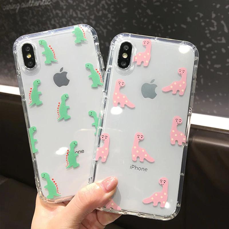Cute Dinosaur Soft TPU Cover iPhone
