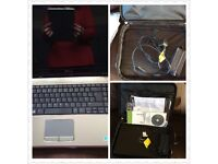 Dell 15.3 inch screen laptop with accessories