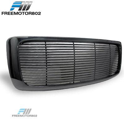 - For 02-05 Dodge Ram Black Sport Billet Front Hood Bumper Grill Grille Frame ABS