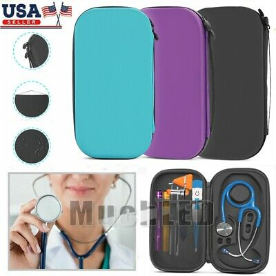 For Stethoscope 3m Littmann Classic Ii Iii Se Hard Carry Storage Case Bag Pouch