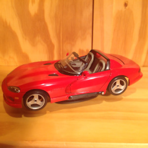 Burago diecast Dodge Viper red RT/10 roadster, exc. condition!