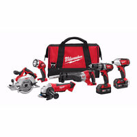 MILWAUKEE M18 Cordless Lithium-Ion 6-Tools Combo Kit NEW