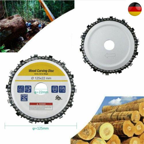 """14 Zahn 5"""" 125mm Mühle Holzschnitzscheibe Kettenscheibe für Winkelschleifer DE"""
