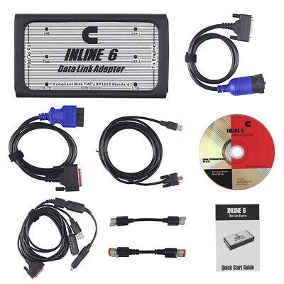 Used, NEW INLINE 6 Data Link Adapter for Cummins RP1210 Heavy Duty Diagnostic Full Set for sale  Shipping to Canada
