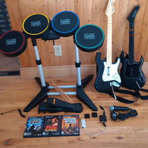 Rock Band Drums and Mic for PS3/PS2