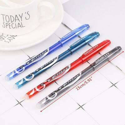 12pcs 0.5mm Erasable Pen Red Blue Black Refill Gel Ink Pens Set Supplies New