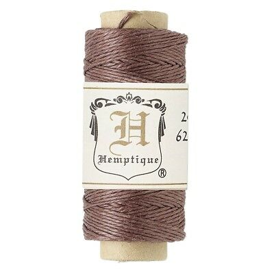 (100' 3-Ply Polished Dark Brown Hemp Cord String Spool)