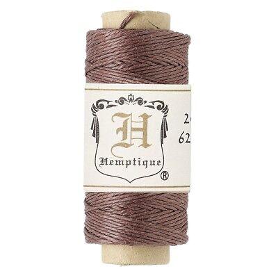 (100' 3-Ply Polished Dark Brown Hemp Cord String Spool)