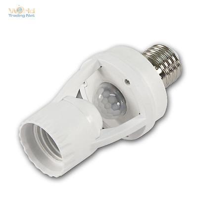 Bewegungsmelder E27 Fassung 360° 230 V max 60W Lampenfassung Adapter PIR IR