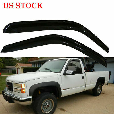 2pcs Door Window Vent Shades Visor Sun Rain Guards for Chevy Silverado 1999-2006