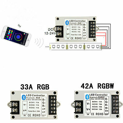 Rgb Led Strip Controller - Bluetooth LED Controller 12V 33A RGB /42A RGBW For 5050 RGB/RGBW LED Strip Light
