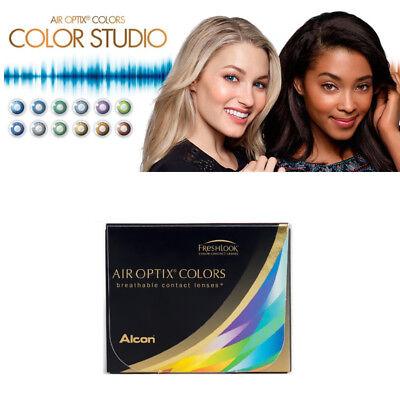 Air Optix Colors von Alcon, 2 Linsen einer Stärke und Farbe pro Box  (- Werte)