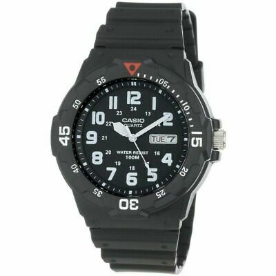 Casio MRW-200H-1BVES Analouge Men's Watch|100M WR|Day-Date Display|Black Face|