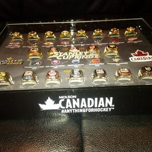 Molson's Stanley Cup Ring set (20 Rings) with collector case Kitchener / Waterloo Kitchener Area image 2