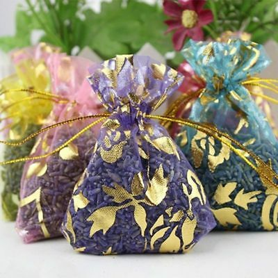 5pcs Real Lavender Organic Dried Flower Sachets Buds Blooms Bag Scent Fragrance