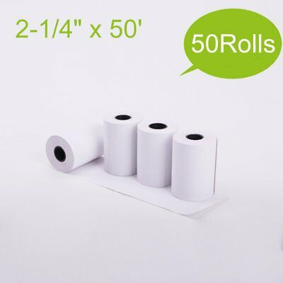 50 Rolls 2-14x50 Thermal Paper Pos Cash Register Credit Card Terminal Receipt