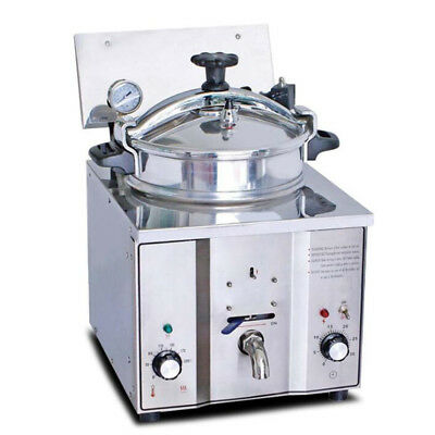 110v220v Stainless Commercial Electric Pressure Fryer Cooker Chicken Countertop