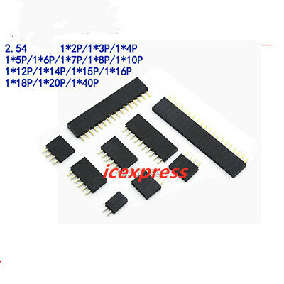 10pcs 2.54mm Single Row Female 240p Pcb Socket Board Pin Header Connector