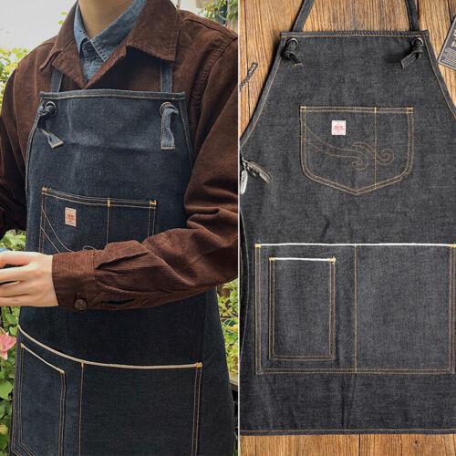 Vintage Workwear Apron Denim Multi-pocket Redline Denim Men