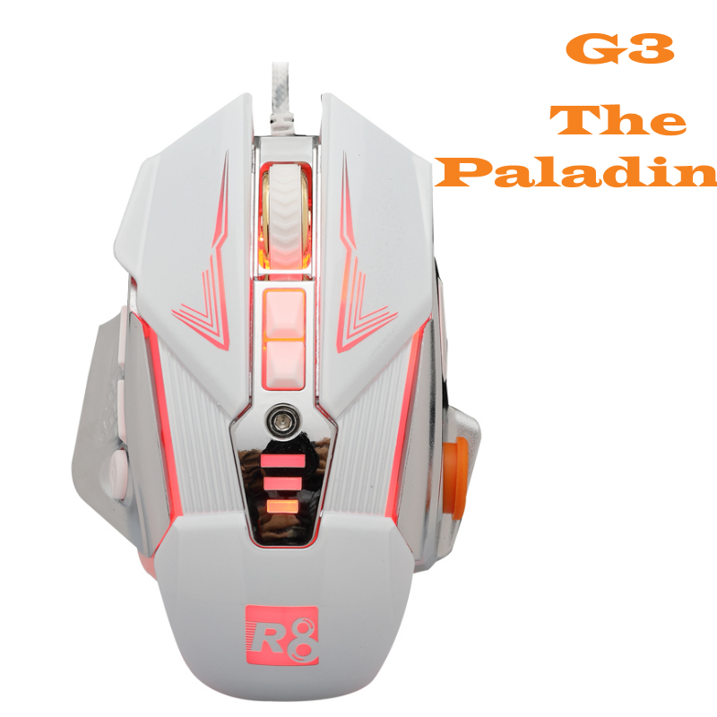 The Paladin Black Gaming Led Mouse 3600DPI Professional Type 9 Button PC