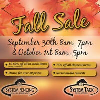 System Fencing & Tack Fall Sale