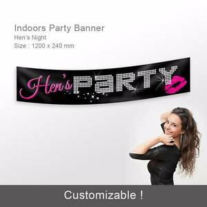 Personalised Birthday, Hens Night Party Banners  Cake Toppers! Auburn Auburn Area Preview