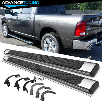 Fits 09-18 Dodge Ram Crew Cab 82inch Ram OE Style Nerf Bars Running Boards SS Dodge Ram Nerf Bars