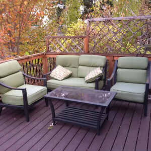 Patio Furniture- Table with 2 Chairs and Love Seat