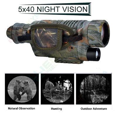 Infrared Dark Night Vision 5X40  Monocular Binoculars Telescopes Scope Hunting