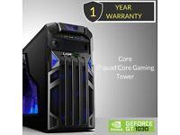 Windows 10 Core i7 Quad Core Gaming Tower PC - 8GB DDR3 - 2000GB HDD-HDMI -