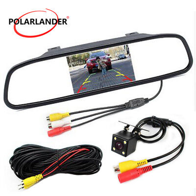 5'' Mini LED Video Parking Sensor System +Rear View Camera Car CCD Monitor LCD